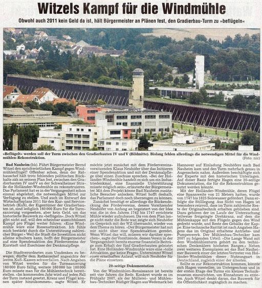 Wetterauer Zeitung, 10. Dezember 2010