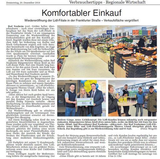 Wetterauer Zeitung, 20. Dezember 2018