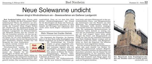 Wetterauer Zeitung, 06. Februar 2014