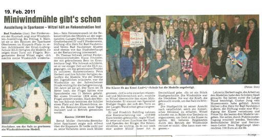 Wetterauer Zeitung, 19. Februar 2011