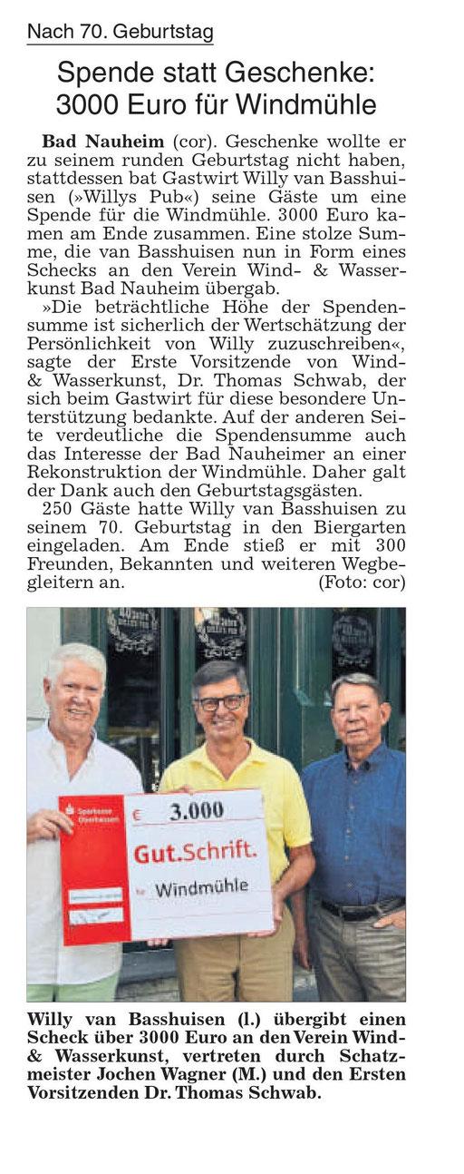 Wetterauer Zeitung, 01. August 2018