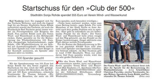 Wetterauer Zeitung, 29. Oktober 2018