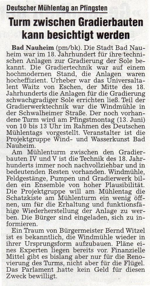Wetterauer Zeitung, 11. Juni 2011