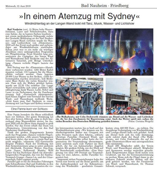 Wetterauer Zeitung, 12. Juni 2019