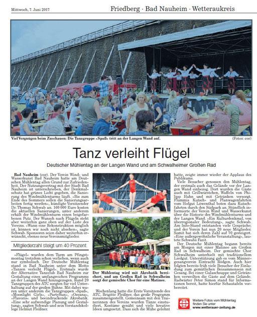 Wetterauer Zeitung, 06. Juni 2017