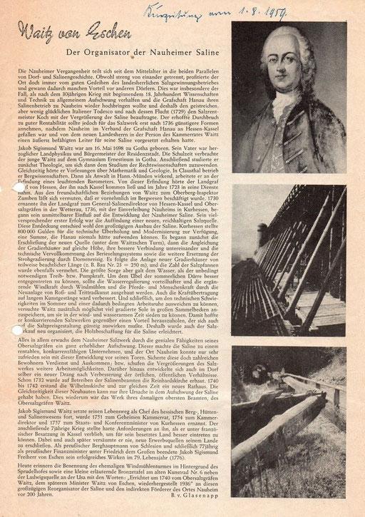 Bad Nauheimer Kurzeitung, 01. August 1959