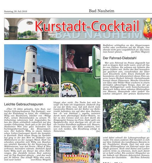 Wetterauer Zeitung, 28. Julil 2018