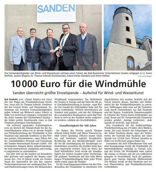 Wetterauer Zeitung, 22. November 2019