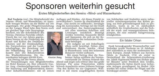 Wetterauer Zeitung, 21. November 2017