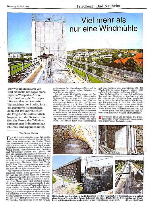 Wetterauer Zeitung, 24. Mai 2017