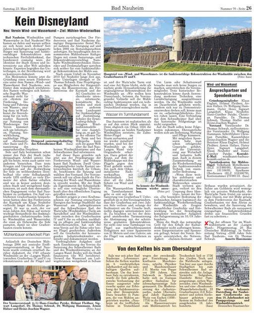 Wetterauer Zeitung, 23. März 2013