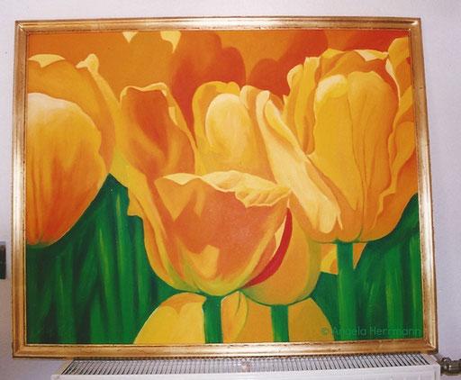 Tulpen  Größe 120 x 100 cm   SOLD