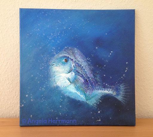 Blauer Fisch  Größe 40 x40 cm