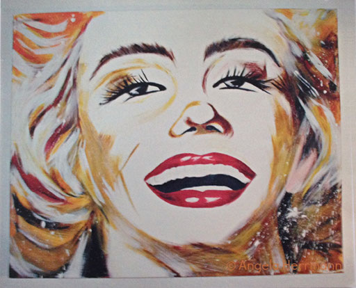 MM abstrakt  Größe 120 x 100 cm  SOLD