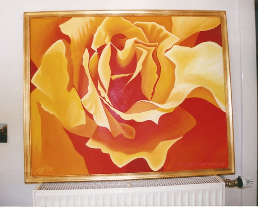 Rose  Größe 120 x 100 cm  SOLD