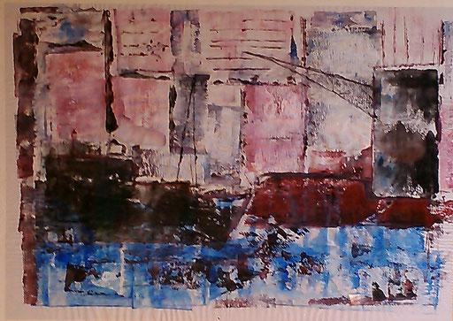 38. Haven, 50x60 cm, acryl op papier