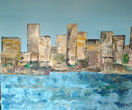 20. Skyline, 50x60 cm, acryl op canvas