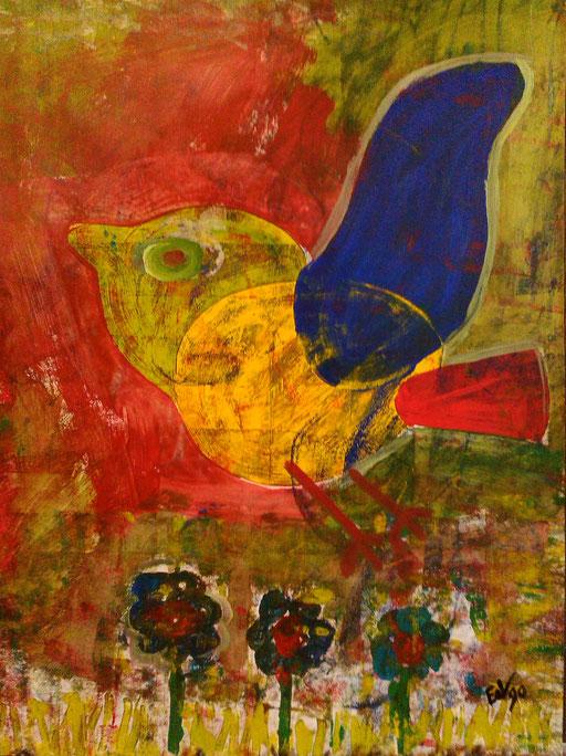 10. Free as a Bird, 40x50 cm