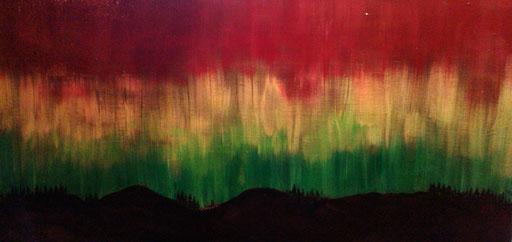 28. Noorderlicht, 40x60 cm, acryl op canvas. Niet meer beschikbaar.