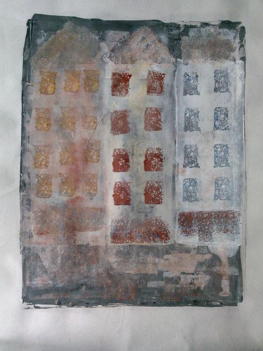 35. Zonder titel, acryl op papier