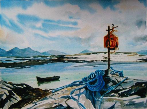 CURRAGH MANNIN, watercolour