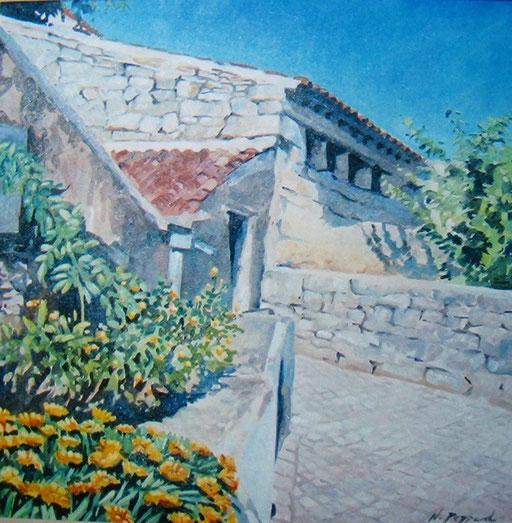 SPANISH BACKSTREET, oil on canvas
