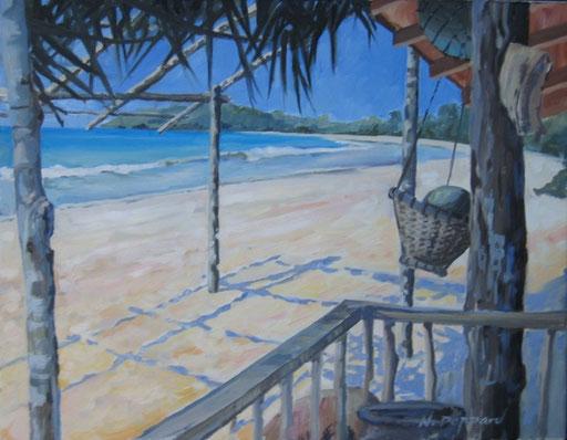 MERISSA BEACH, oil on canvas
