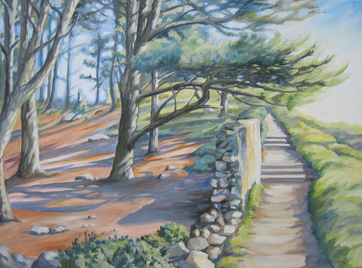 PINEWOOD WALK, oil on canvas