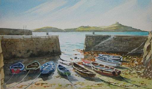 EARLY MORNING AT COLIEMORE, oil on canvas