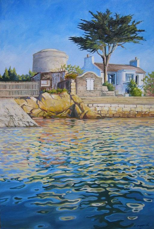 MARTELLO TOWER, oil on canvas