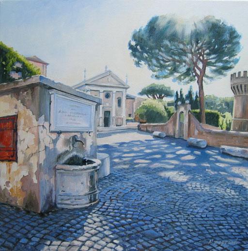 IL BORGO, oil on canvas