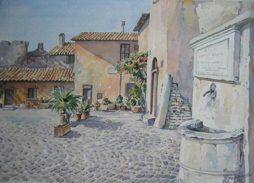 THE FOUNTAIN OF SALMACIS, oil on canvas
