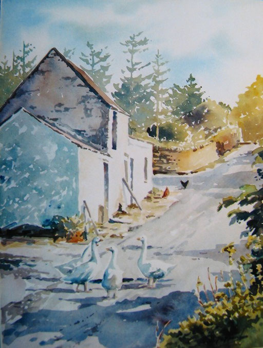 FARMSTED DONEGAL, watercolour