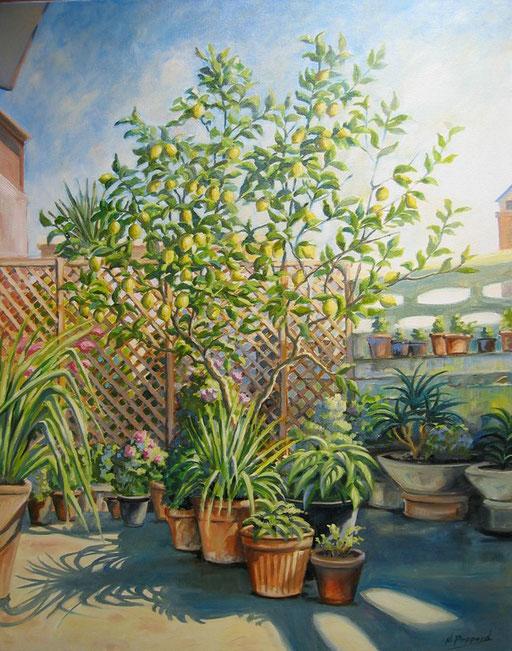 LEMON TREE, oil on canvas