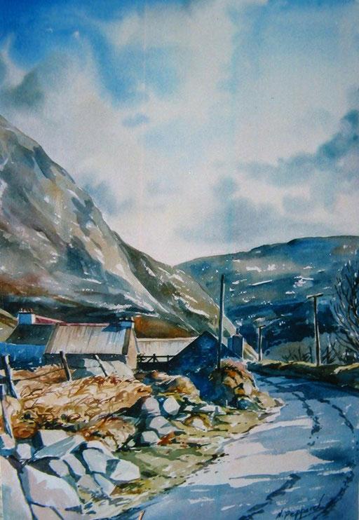 DUBLIN MOUNTAINS, watercolour