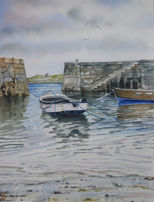 COLIEMORE HARBOUR I, oil on canvas