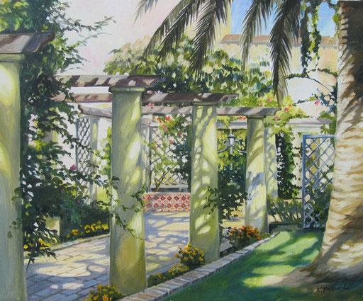 GiARDINO DI ENEA, oil on canvas