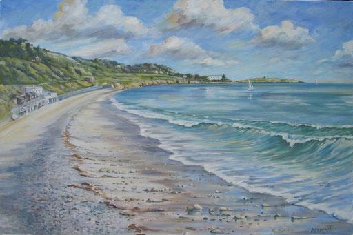 KILLINEY BEACH TEA ROOMS, oil on canvas