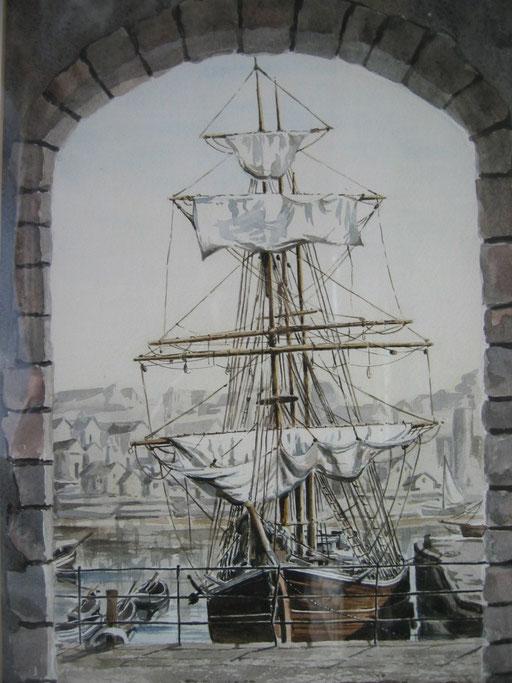 TALL SHIPS I, watercolour