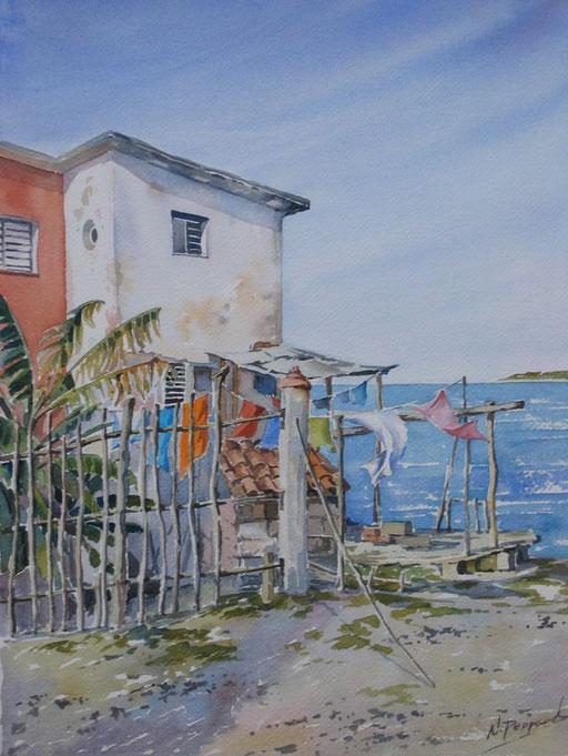 CUBAN SEA BREEZE, watercolour