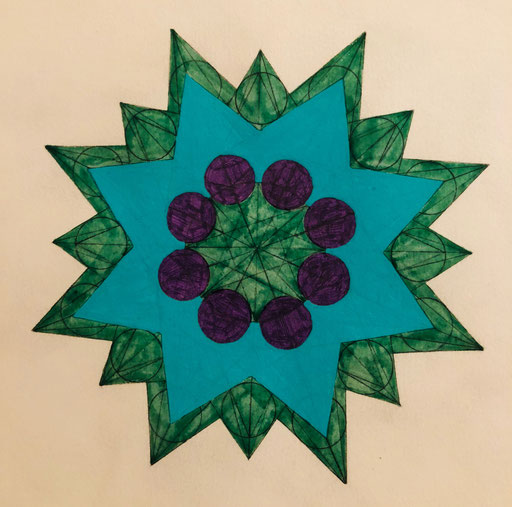 Octahedron - Mandala - Naga Mandala