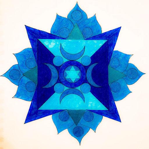 Energy Mandala - Crescent Moon and Star