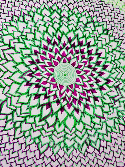 Spiral Blossoming Mandala