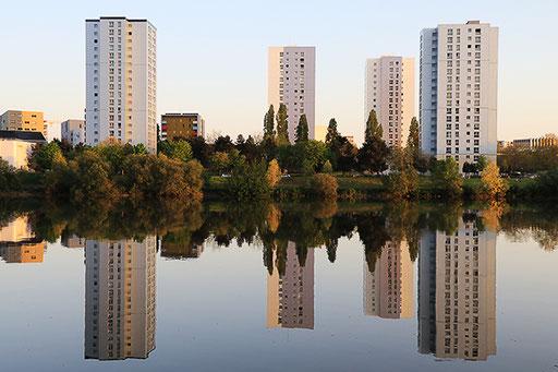 NANTES Reflets miroir sur la Loire