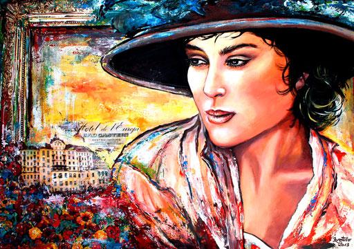 P 43 - Künstler Portrait Gesichter Gemalt - Belle Epoche