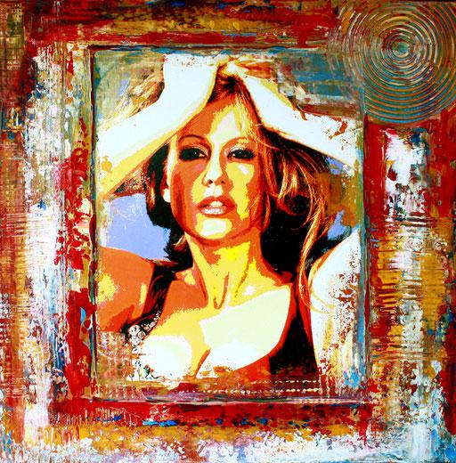 P 53 - Künstler Portrait Gesichter Gemalt - Barbara