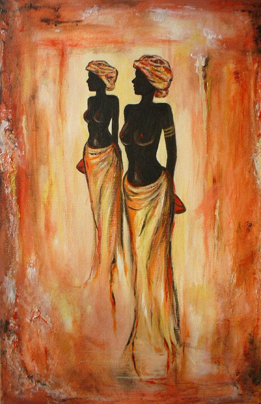 F 4 - Figuerliche Malerei - Figurative Wandbilder - Afrika Women 1