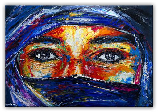 P 65 - Porträt Gesichter Malerei - Turaeg Beduine