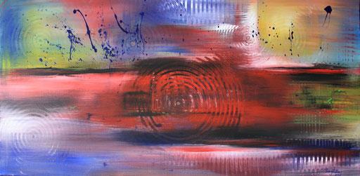 179 Verkaufte Bilder abstrakt - Stimmungen gemalt blau lila rosa rot gelb