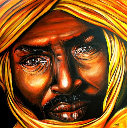 P 16 - Künstler Portrait Gesichter Gemalt - Touareg 5
